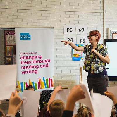reading schools event with author